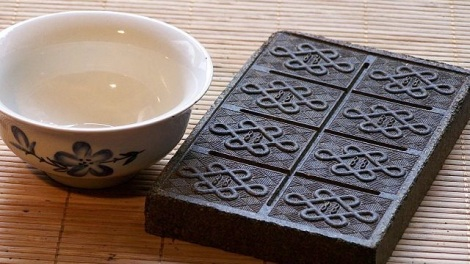 Wikimedia/T.Voekler A Qing dynasty brick of compressed tea sold at auction for more than $1.2 million.